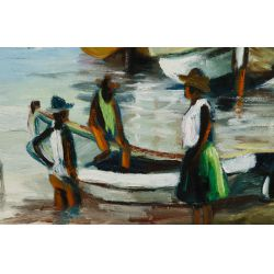 View 2: F Joseph (Hatian, 20th Century) Oil on Canvas