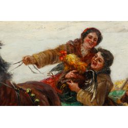 View 2: C Stojanow (Russian, 19th Century) Oil on Canvas