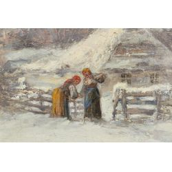 View 3: C Stojanow (Russian, 19th Century) Oil on Canvas
