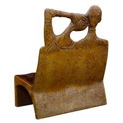 View 2: Figural-form Fiberglass Bench