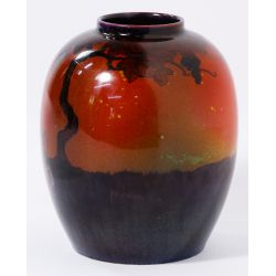 View 2: Royal Doulton Flambe Vase By Eaton and Noke
