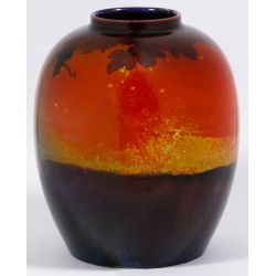 View 3: Royal Doulton Flambe Vase By Eaton and Noke