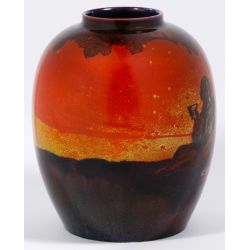 View 4: Royal Doulton Flambe Vase By Eaton and Noke