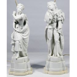 View 2: Parianware Figural Table Lamps