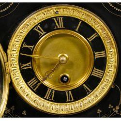 View 2: Eastlake Style Black Slate Mantel Clock