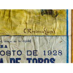View 3: C. Ruano Llopis (Spanish 1879-1950) Bull Fighting Poster