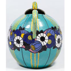 View 4: Henri Gandais Pottery Double Handle Vase