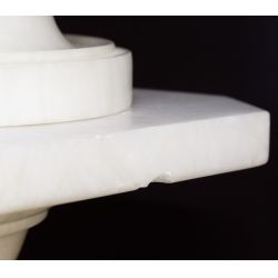 View 5: Neoclassical Style Carved Marble Lamp and Pedestal