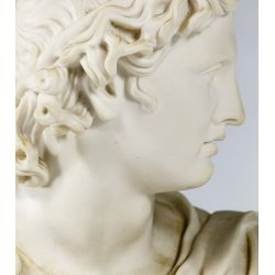 """View 8: (After) C Delpech (French, 19th Century) """"Apollo"""" Parian Bust"""