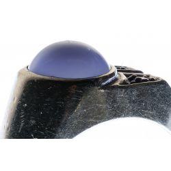 View 5: Platinum, Star Sapphire and Diamond Ring