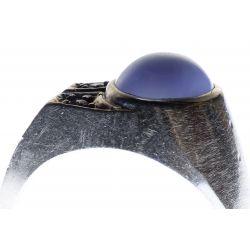 View 4: Platinum, Star Sapphire and Diamond Ring