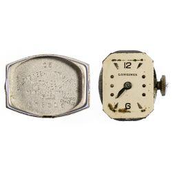 View 2: Longines 14k White Gold and Diamond Case Wrist Watch