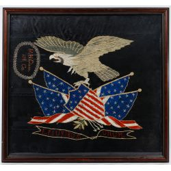 View 2: Patriotic Eagle Silk Embroidery Displays