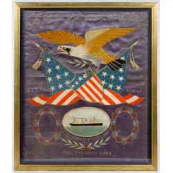 View 4: Patriotic Eagle Silk Embroidery Displays