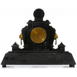 View 3: Eastlake Style Black Slate Mantel Clock