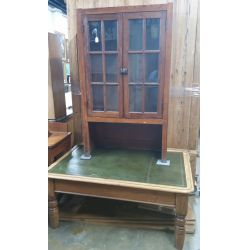 View 2: Country French Style Pine China Cabinet and Bookcase