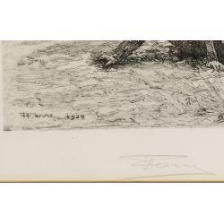 View 4: Henri Farre (American / French, 1871-1934) Etching