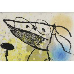 "View 2: Joan Miro (Spanish, 1893-1983) ""Le Courtesan Grotesque"" Aquatint"