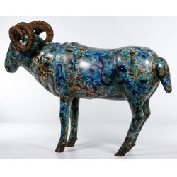 View 3: Asian Cloisonne Ram