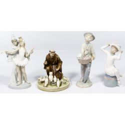 View 3: Lladro and Borsato Porcelain Figure Assortment