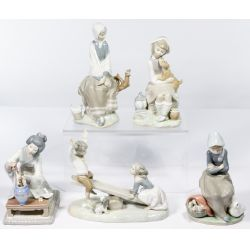 View 2: Lladro and Borsato Porcelain Figure Assortment