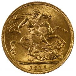 View 2: England: 1915 Gold Sovereign
