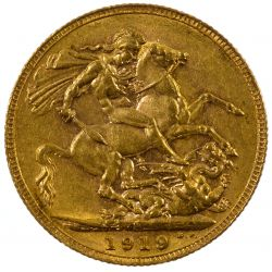 View 2: England: 1919 Gold Sovereign