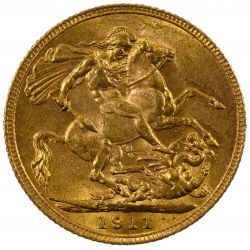 View 2: England: 1911 Gold Sovereign