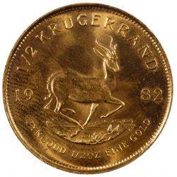 View 2: South Africa: 1982 1/2 Krugerrand Gold