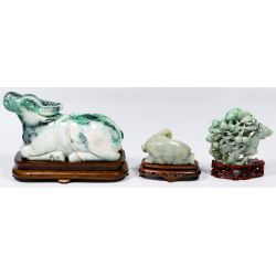 View 2: Asian Jadeite Jade Carved Statue Assortment