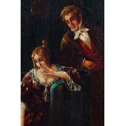 View 3: Unknown Artist (European, 19th Century) Oil on Board