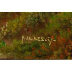 View 5: Paul Wesley (American, 19th / 20th century) Oil on Canvas