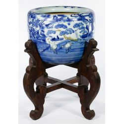 View 3: Asian Vase on Wood Stand