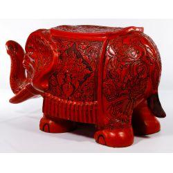 View 2: Asian Cinnabar Style Elephant Stool