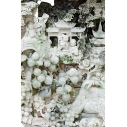View 2: Chinese Carved Jadeite Jade Intricate Sculpture