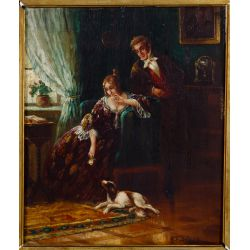 View 2: Unknown Artist (European, 19th Century) Oil on Board