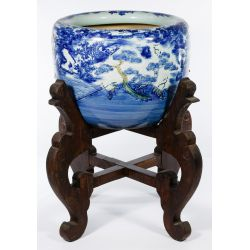 View 4: Asian Vase on Wood Stand
