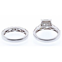 View 3: 18k White Gold and Cubic Zirconia Rings