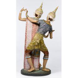 "View 3: Lladro #2058 ""Thailandia"" Gres Figurine"