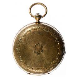 View 3: H Laval St Imier 14k Gold Hunter Case Pocket Watch