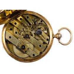 View 6: H Laval St Imier 14k Gold Hunter Case Pocket Watch