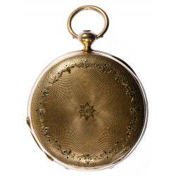 View 4: H Laval St Imier 14k Gold Hunter Case Pocket Watch