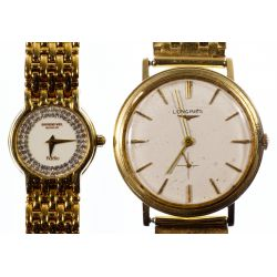 View 3: Longines 14k Gold Case and Band Wrist Watch