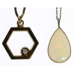 View 2: 14k Gold Necklace and Pendant Assortment