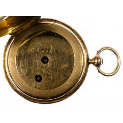 View 5: H Laval St Imier 14k Gold Hunter Case Pocket Watch