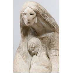 View 4: Austin Productions Acoma Series Mother and Child Sculpture