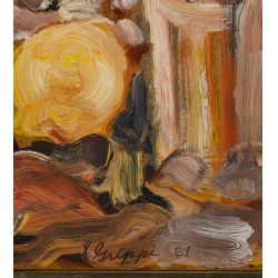 View 3: Salvatore Grippi (American, b.1921) Oil on Masonite