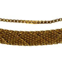View 2: 18k Gold Mesh Necklace and Bracelet
