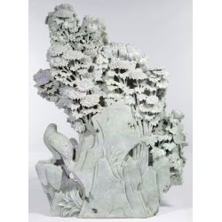 View 5: Asian Carved Jadeite Jade Scenic Panel