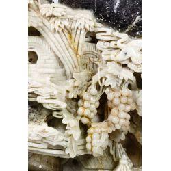 View 3: Asian Carved Jadeite Jade Scenic Panel